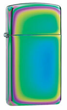 ZIPPO Spectrum Slim Lighter With Logo 20493 Ladies NEW