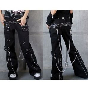 Men Gothic Bondage Pant Rock Hard Trouser Heavy Weight Pant EMO /TRIPP PANTS