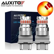 2X AUXITO 3157 3156 T25 Canbus Red LED Brake Tail Stop Light Bulb No Hyper Flash