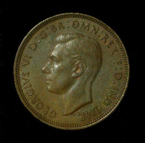 VINTAGE FOREIGN COIN: 1943 HALF PENNY - GREAT BRITAIN