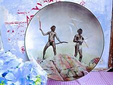 VINTAGE ROYAL DOULTON ABORIGINES WITH HUNTING WEAPONS PLATE - D 6421 Plate
