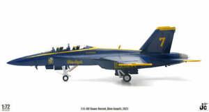 USN F/A-18E Super Hornet #7 Blue Angels 2021 JC Wings JCW-72-F18-010 Scale 1:72