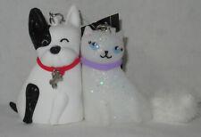 Bath & Body Works PocketBac Holder Set 2 CUTE COMPANIONS CAT & DOG magnetic