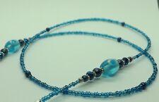 Blue Glass Beads Handmade Glasses Chain Spectacles Holder