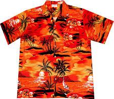 Camicia Hawaiana / 100% cotone / S - 6XL / Hawaiiana Hawaii Hawai uomo tramonto