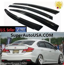 For 2012-15 9TH CIVIC SI SEDAN 3D JDM MUGEN STYLE SMOKED WINDOW VISOR VENT SHADE