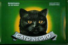 Gato Negro Katze Cat Blechschild Schild 3D geprägt gewölbt Tin Sign 20 x 30 cm