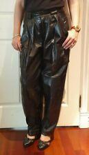 Vintage Woman's Black Leather KENAR Pants 12