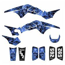 Polaris Outlaw 450 500 525 Graphics 2006 2007 2008 sticker kit #9500 Blue Zombie