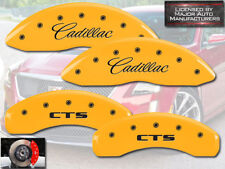 "2008-2013 ""Cadillac CTS"" J55 Front + Rear Yellow MGP Brake Disc Caliper Covers"