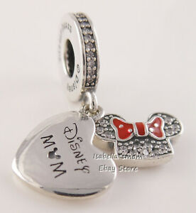 DISNEY MOM Authentic PANDORA Minnie MOUSE Park EXCLUSIVE Dangle Charm NEW w BOX!