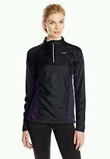Mizuno Pro Heat Generating Full Zip Athletic Jacket Plum Black NEW Womens XL NWT