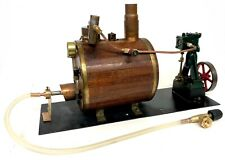 Working Stuart Live Vertical Steam Engine And Boiler