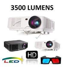 3500 LUMENS 3000:1 HD720p/1080p 3D LED Business/Home PROJECTOR 2xHDMI/2xUSB/VGA