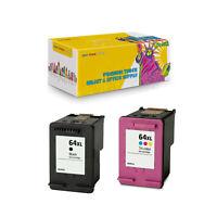 2PK Compatible N9J92AN + N9J91AN Ink for HP 64XL BK C ENVY 7830 7855 7858 7864
