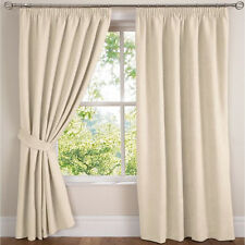"""Natural Faux Suede 66""""x84""""(168x213cm) Soft Touch Heavy Weight Tape Top Curtains"""