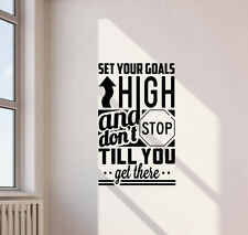 Set Your Goals High Wall Decal Fitness Gym Sports Quote Vinyl Sticker Decor 537