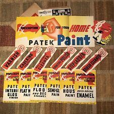 Mid-Century Patek Paint Milwaukee, WI Litho Paper Advertising Vintage Marketing