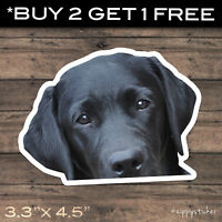 Black Labrador Sticker - Vinyl Window Peep Car Laptop Bumper Decal Dog Retriever