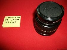 CANON LENS WIDE FD 28mm 1:2.8 W/ GEMINI POLARIZEIR 52mm FILTER & 2 CAPS ESTATE