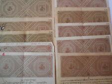 10 Pcs LOT -  British india - 1 R. 8 As. - KG V - George V - Stamp Bond Paper