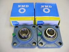 """2 Excellent Quality NMD Brand UCF205-16 1"""" Bore 4 Bolts Flange Bearings"""
