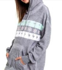 Wildfox On Holiday Relax Hoodie Grey Woman XXS New $168 Retro Super Soft