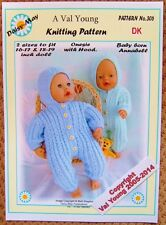 DOLLS KNITTING PATTERN no. 306 for BABYBORN.by Val Young