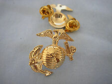 U. S. MARINE CORPS HAT PIN - LARGE EAGLE, GLOBE & ANCHOR