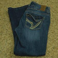 dc5f625035897 Ariya Jeans Women s Faded Dark Wash Stretch 3 4 (Measures 27 x 25.5)