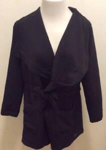 NEW BALANCE Ladies Large Studio Tie Waist Jacket Black