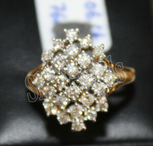 IGI Certified 0.53ct Natural Round Diamond 14K Solid Yellow Gold Wedding Ring