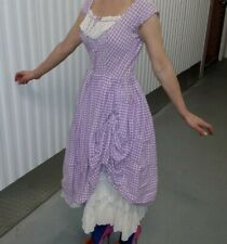 Vintage 1950s Dress Purple Gingham Pinup Rockabilly