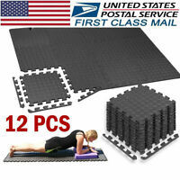 Exercise Floor Mat Fitness Foam Mats Tiles Puzzle Rug Pad Gym Workout Equipment