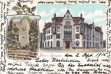 SELTEN alte 2 Bild Litho - AK 1915@ Aue im Erzgebirge @Stadthaus & Bismarckstein
