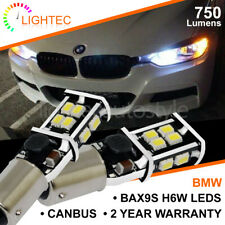 2x BMW BAX9S H6W 433 LED CANBUS 14 SMD CREE BRIGHT WHITE DRL SIDE LIGHT BULBS