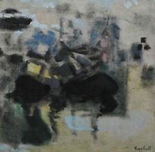 Alexandre Garbell. Bateaux dans un port. Technique mixte v746