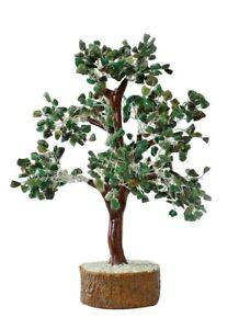 Emerald Green 500 Beads Gemstone Crystal Reiki Tree for Good Luck