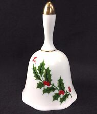 """All The Trimmings Christmas Holly Berries Bell Porcelain Japan 5 1/4"""""""