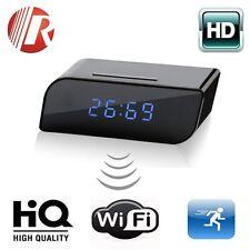 Wireless Wifi IP 720P HD Clock Spy Hidden Camera IR Security Network Web Cam DVR