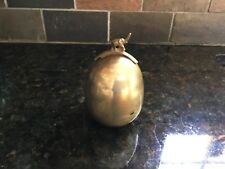 Antiqued Brass Coin Bank/Decorative Object / Paperweight with Elephant Accent
