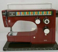 Viking Husqvarna 6460 Red Colormatic Sewing Machine with Pedal