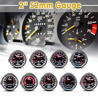 "2"" 52MM LED CAR BOOST/VACUUM/WATER/OIL TEMP/PRESSURE/VOLT/FUEL/EGT/TACHO"