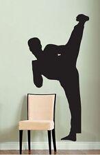 Vinyl Wall Decal Sticker Karate Kick 6ft tall