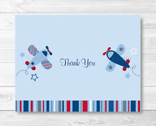 Airplane Thank You Card Red and Blue Printable