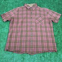 Kuhl men's Button Down Shirt Plaid Short Sleeve Size Large