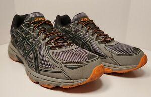 Asics Gel-Venture 6 Grey/Orange Running Trail Shoes, Men's Size 11 EUR 45