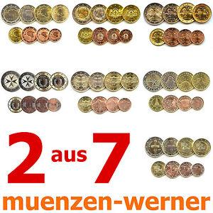 2 aus 7 KMS neue Euro•Münze•Länder Kursmünzen Satz 1c-2€ Eurosatz Münzensatz Set