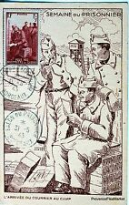 France Carte Maximum  1943 SEMAINE DU PRISONNIER SALON BORDEAUX   Yt 475