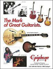 Epiphone Emperor Sheraton II Casino Sorrento guitar 1994 ad 8 x 11 advertisement